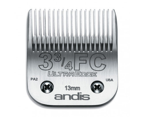 Andis UltraEdge Detachable Blade Size 3 3/4 FC - Leaves 13mm Fits AGC/AGR+ & Oster