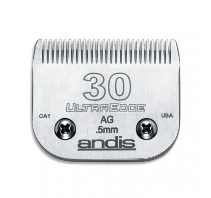Andis UltraEdge Detachable Blade, Size 30 - Leaves 0.5mm Fits AGC/AGR+ & Oster