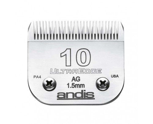 "Andis UltraEdge Detachable Blade, Size 10 - Leaves 1.5mm or 1/16"" Fits AGC/AGR+ & Oster"
