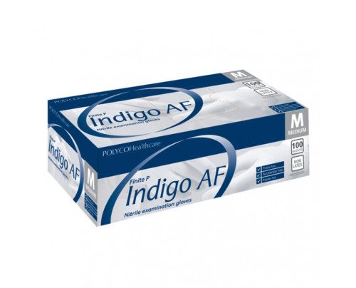 Indigo AF Nitrile Powder Free Gloves  - Large (Box Of 100)