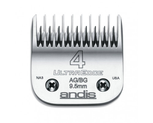 Andis UltraEdge Detachable Blade, Size 4 Skip - Leaves 9.5mm Fits AGC/AGR+ & Oster