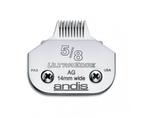 "Andis UltraEdge Detachable Blade, Size 5/8"" Toe - Leaves 14mm Fits AGC/AGR+ & Oster"