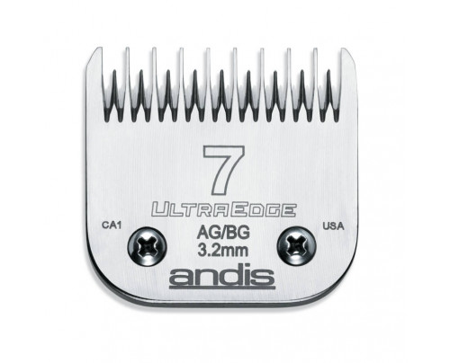 Andis UltraEdge Detachable Blade, Size 7 - Leaves 3.2mm Fits AGC/AGR+ & Oster