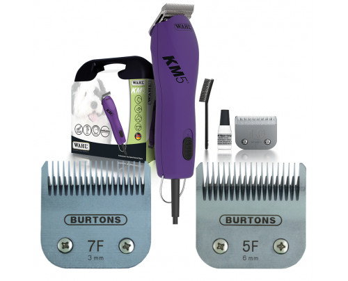 Wahl KM5 Corded Clipper - With 2 free Burtons Blades