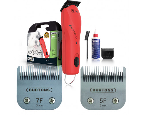 Wahl KM Cordless Clipper - With 2 free Burtons Blades