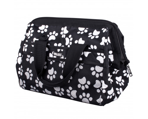 Wahl Grooming Holdall - Black with white paw prints