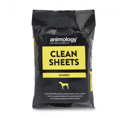 Animology Clean Sheets Wipes (20 sheets)