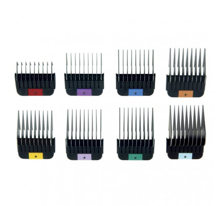 Wahl Competition Series Stainless Steel Cutting Guides Set of 8 Combs from 3mm to 25mm