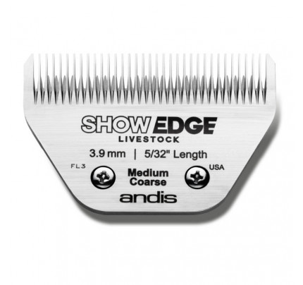 Andis ShowEdge Live Stock Medium Coarse Wide Blade - Leaves 3.9mm 5/32""