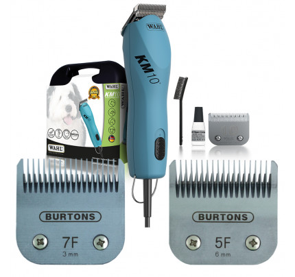 Wahl KM10 Corded Clipper - With 2 free Burtons Blades